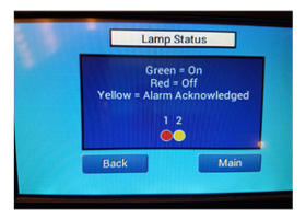 Lamp Status Screen